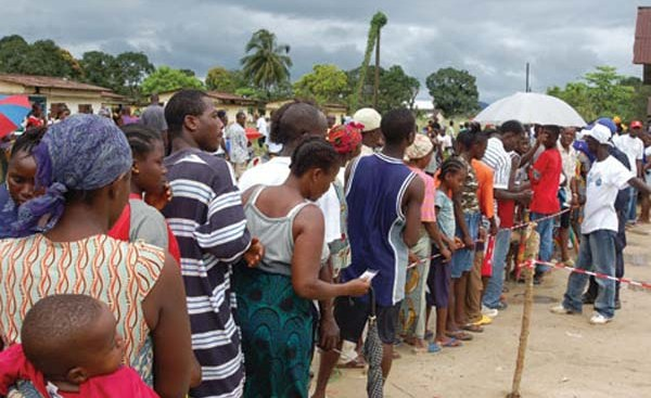 Liberians queued out during last elections