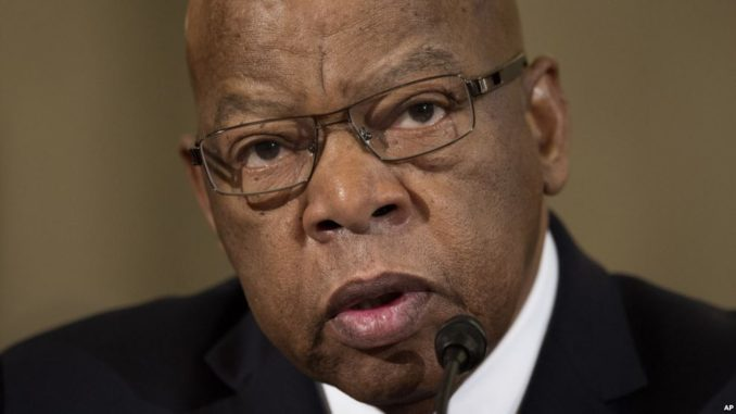 Rep. John Lewis, D-Ga. testifies in Washington, Jan. 11, 2017, at the second day of a confirmation hearing for Attorney General-designate, Sen. Jeff Sessions, R-Ala., before the Senate Judiciary Committee. (VOA Credit)