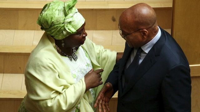 Heirs apparent: Nkosazana Dlamini-Zuma appears to be the frontrunner to take over the ANC presidency from her ex-husband, President Jacob Zuma. (Tiksa Negeri/Reuters)