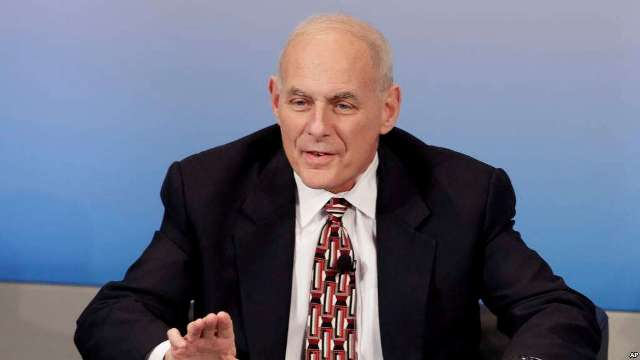 U.S. Secretary of Homeland Security John Kelly speaks during the Munich Security Conference in Munich, Germany, Feb. 18, 2017. The annual weekend gathering is known for providing an open and informal platform to meet in close quarters. (Credit: VOA)