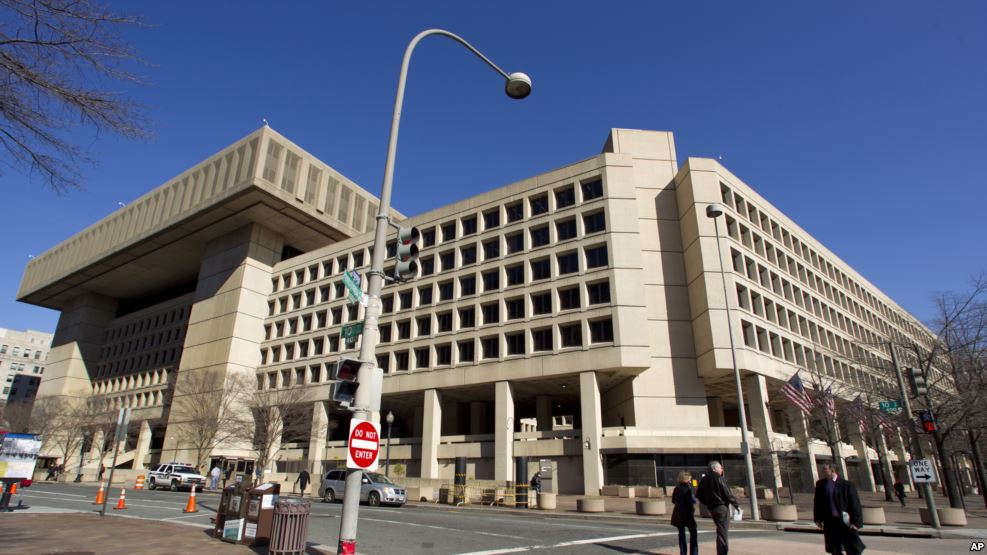 FILE - The Federal Bureau of Investigation headquarters in Washington.