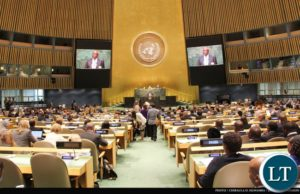 Speaker of the National Assembly of Zambia the Right Honourable Justice Patrick Matibini addressing the Fourth World Conference of Speakers of Parliament at UN Headquarters in New York, USA on 2 September, 2015. PHOTO   CHIBAULA D. SILWAMBA   ZAMBIA UN MISSION FILE: Speaker of the National Assembly of Zambia the Right Honourable Justice Patrick Matibini addressing the Fourth World Conference of Speakers of Parliament at UN Headquarters in New York, USA on 2 September, 2015. PHOTO   CHIBAULA D. SILWAMBA   ZAMBIA UN MISSION