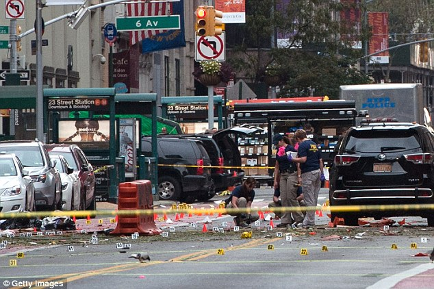 An FBI official tells CBS News that they are warning law enforcement in New York, Virginia and Texas about possible terror attacks planned for the day before the election. Above, a view of the aftermath of the Chelsea, New York City bombing in September