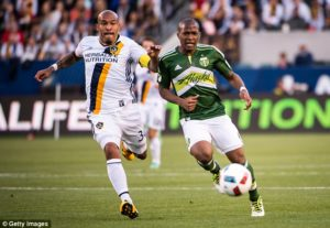 Celtic is weighing up a January move for American international Darlington Nagbe (right)