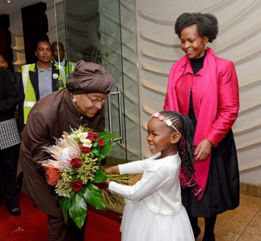 Ellen arrives in South Africa to review the bilateral cooperation between South African and Liberia -