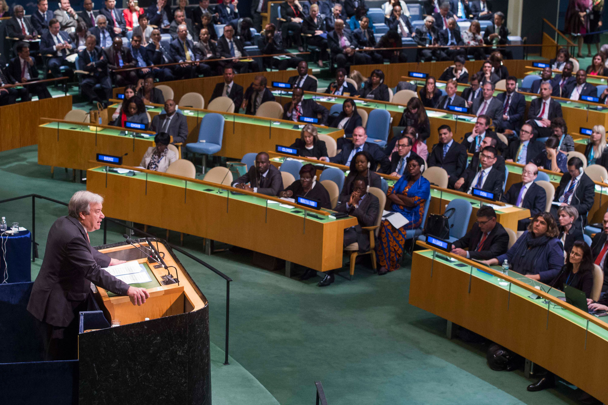 António Guterres appointed next UN Secretary-General by acclamation Secretary-General-designate, António Guterres, addresses the General Assembly on the occasion of his appointment as the next Secretary-General of the United Nations. UN Photo/Amanda Voisard