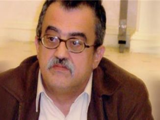 Nahed Hattar was facing trial for posting a cartoon on his Facebook account [Al Jazeera]