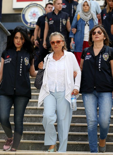 The veteran journalist Nazlı Ilıcak, 72, is among those detained. Photograph: Ihlas News Agency/AFP/Getty Images