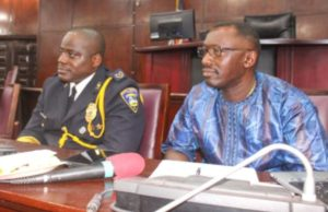 Col. Kromah and Police IG Coleman during their confirmation at the Liberian Senate