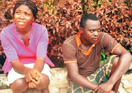 Adebimpe Muyijimi and husband Ayodeji Muyijimi who kidnapped the two reverend sisters