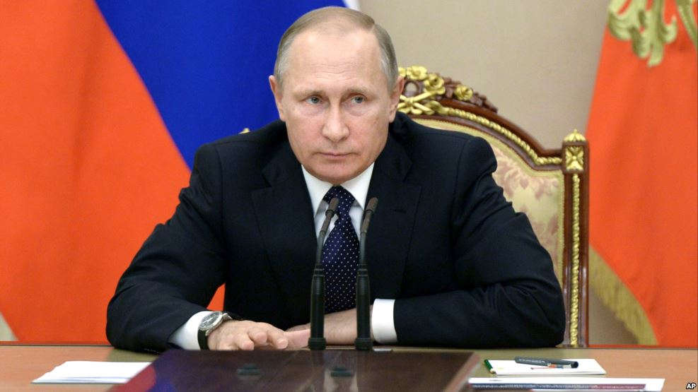 FILE - Russian President Vladimir Putin heads a meeting on the budget in Moscow's Kremlin, Russia.