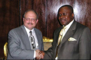 FLASH BACK: Dr. Hansen meets with Mr. George S. Dweh Former Speaker of the National Transitional Legislative Assembly