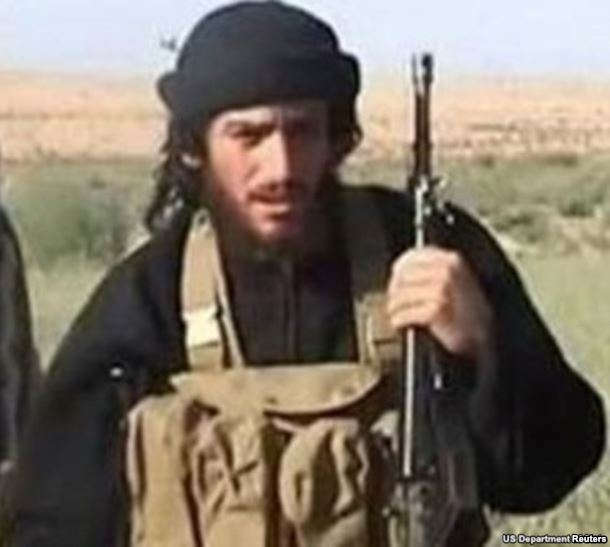 FILE - Islamic State's Abu Muhammad al-Adnani is pictured in this undated handout photo, courtesy the U.S. Department of State.