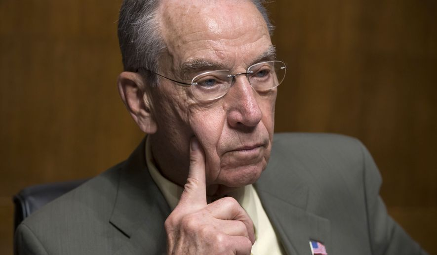 """""""Lives are being lost, the public's safety is at risk, and American families are suffering,"""" Senate Judiciary Committee Chairman Charles Grassley wrote to Homeland Security Secretary Jeh Johnson. """"It cannot continue."""" (Associated Press"""