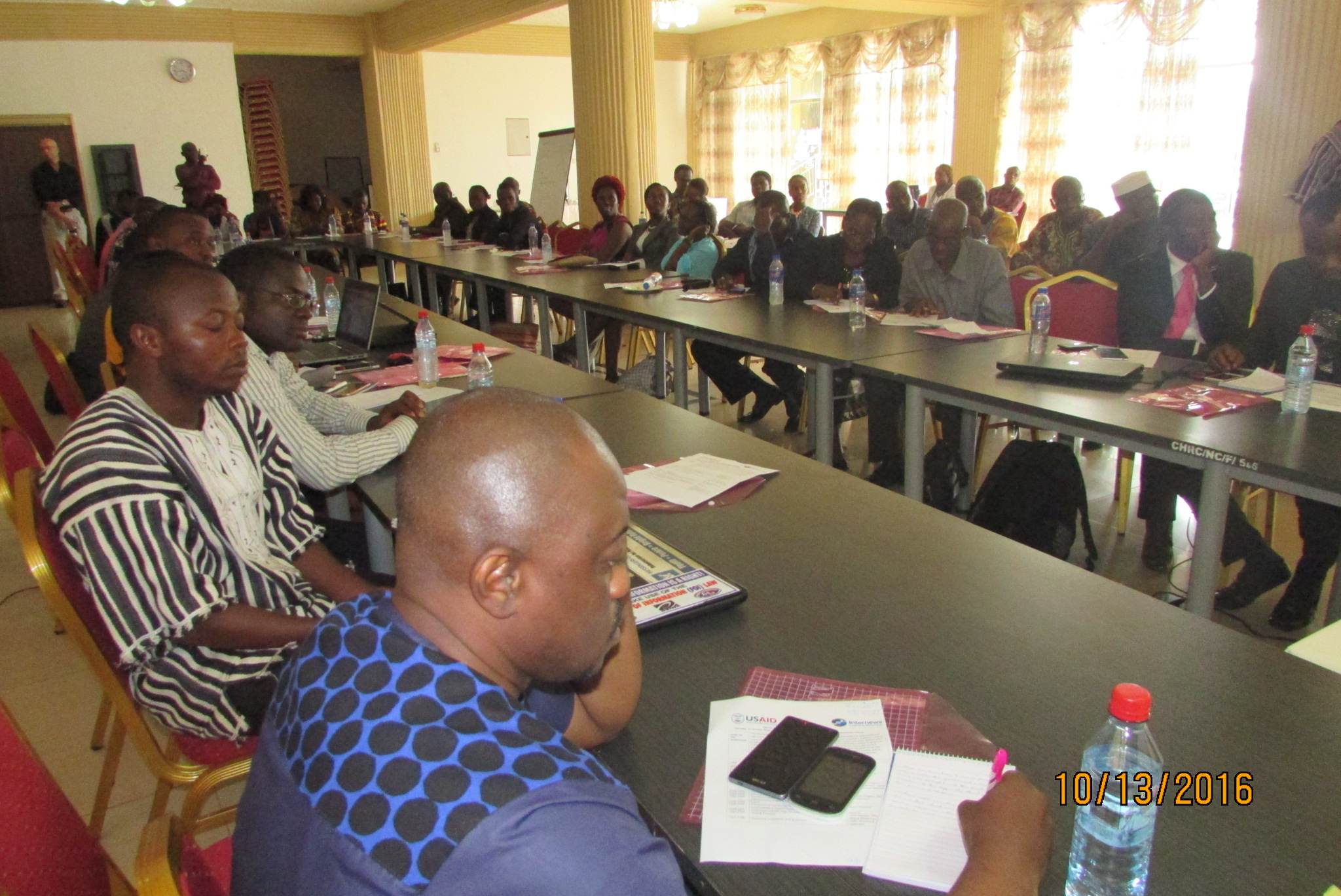 Participants at the USAID/INTERNEWS Forum with stakeholders today