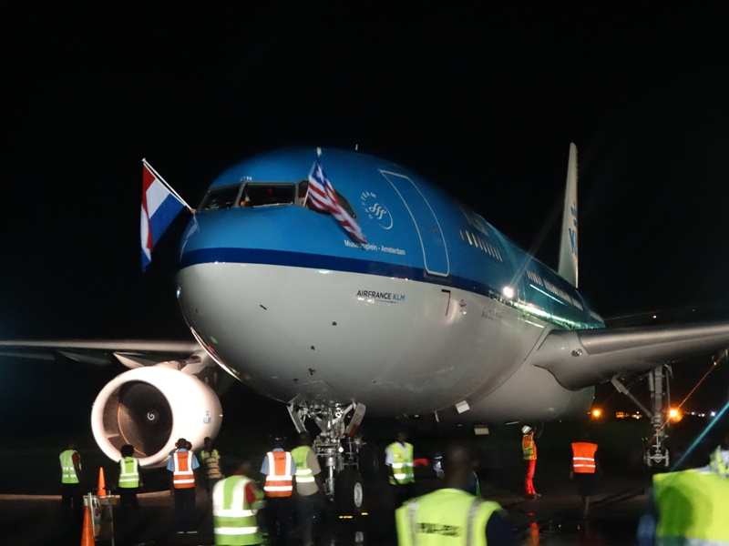 Liberians Jubilate As KLM Airline Returns -