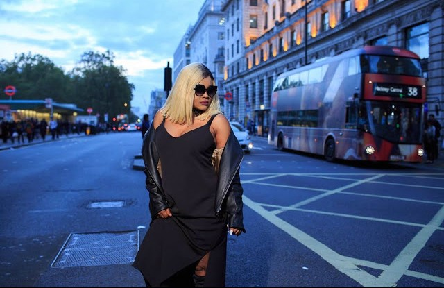 Nollywood actress Mercy Aigbe and her blonde takes over the streets of London.