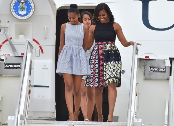 US First Lady, Two Daughters and Mother On Her Tour African Tours