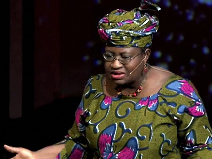 Former Nigerian Minister of Finance, Mrs Ngozi Okonjo-Iweala