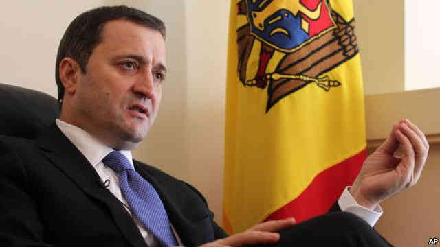 Moldova's Prime Minister Vlad Filat speaks during an interview with The Associated Press at the Moldovan embassy in Brussels, Belgium, March 27, 2012.