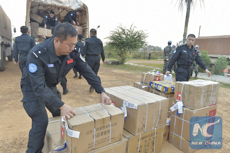 FLACKBACK: Police officers of the third Chinese riot police squad to join a UN peacekeeping mission in Liberia