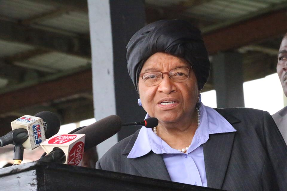 Liberian Leader Expressing Gratitude To The U.S. Government During The Program