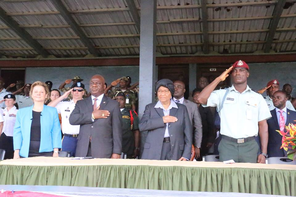 Officials including Defense Minister, Chief Of Staff, Liberian Leader