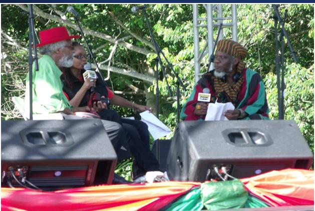 "Fr.Left ""Bongo Jerry"" Small, Andrea ""Kabu"" Williams & ""Mutabaruka"" at IRIE FM's annual tribute to Marcus Mosiah Garvey, Ocho Rios, Jamaica, 2015…are these  the 'three' of Isa.Ch.57?"