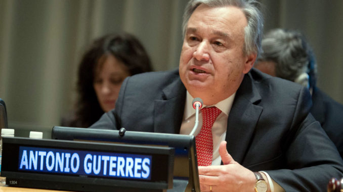 United Nations Secretary General, António Guterres
