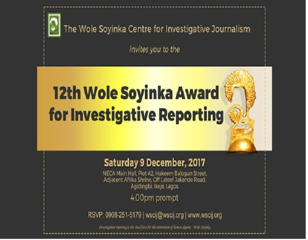 Wole Soyinka To Give Keynote Address At Award For Investigative Reporting -