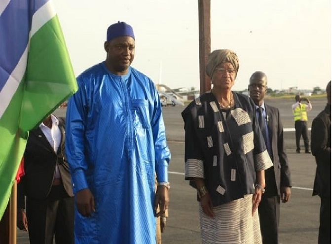 Gambian President Praises President Sirleaf For Helping Gambia To End Decades Of Jammeh Misrule, Slavery, Subjugation And Political Bondage! -