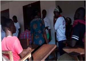Students of Different High Schools in Registration Cue @ Gboveh High in Gbarnga, Bong County