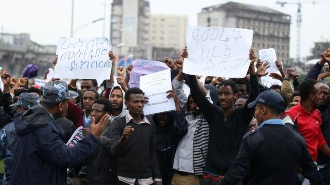 Ethiopian activists demand news of jailed leaders after massive fire
