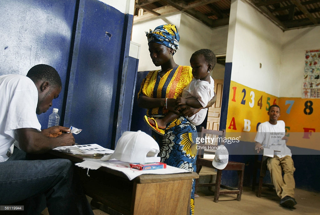 One of the low turnout centers in Monrovia