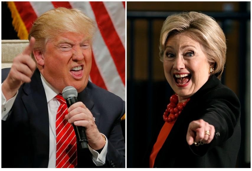 US ELECTIONS: Trump and Clinton