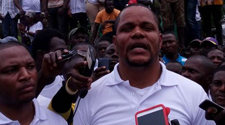FLASH BACK: Mr. Henry Costa, Voice 102.7 FM Manager during one of his protests