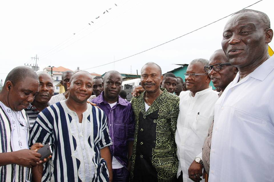 Members of the Liberian Media Stakeholders at the funeral
