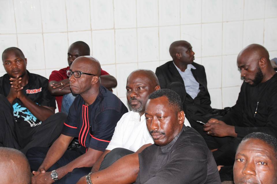 Another scene from the funeral; Mr. AB Kromah and others