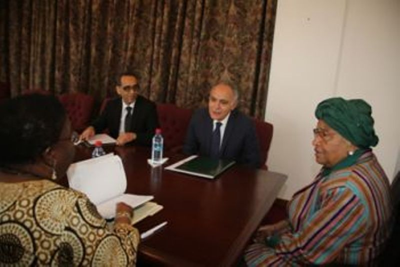 President Sirleaf Receives Special Envoy from the Kingdom of Morocco -