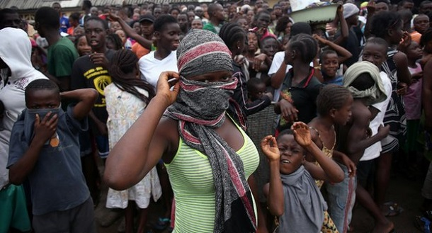FLASH BACK: Police in Monrovia in August 2014 when the deadly Ebola virus was killing people, angry protestors attacked one of the facilities for the treatment of the disease.