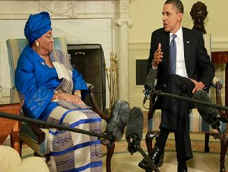 Flash Back: Liberian leader, President Ellen Johnson Sirleaf and US President Barack Obama