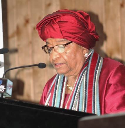 Liberia Leader delivering her State of the Nation address
