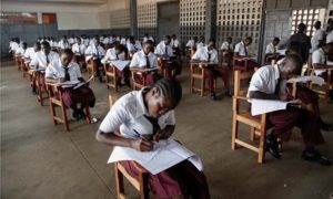 FLASH BACK: 12th Graders taking WEAC test in Monrovia