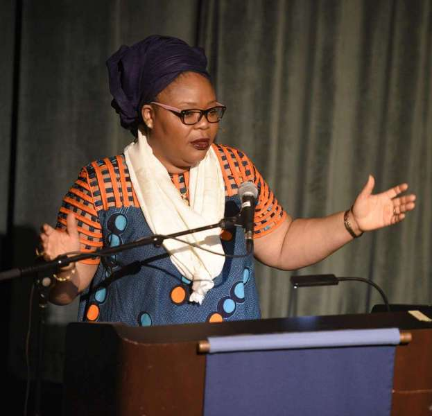 Liberia's Leymah Gbowee Speaks in U.S. Against Division, Evil and Violence -
