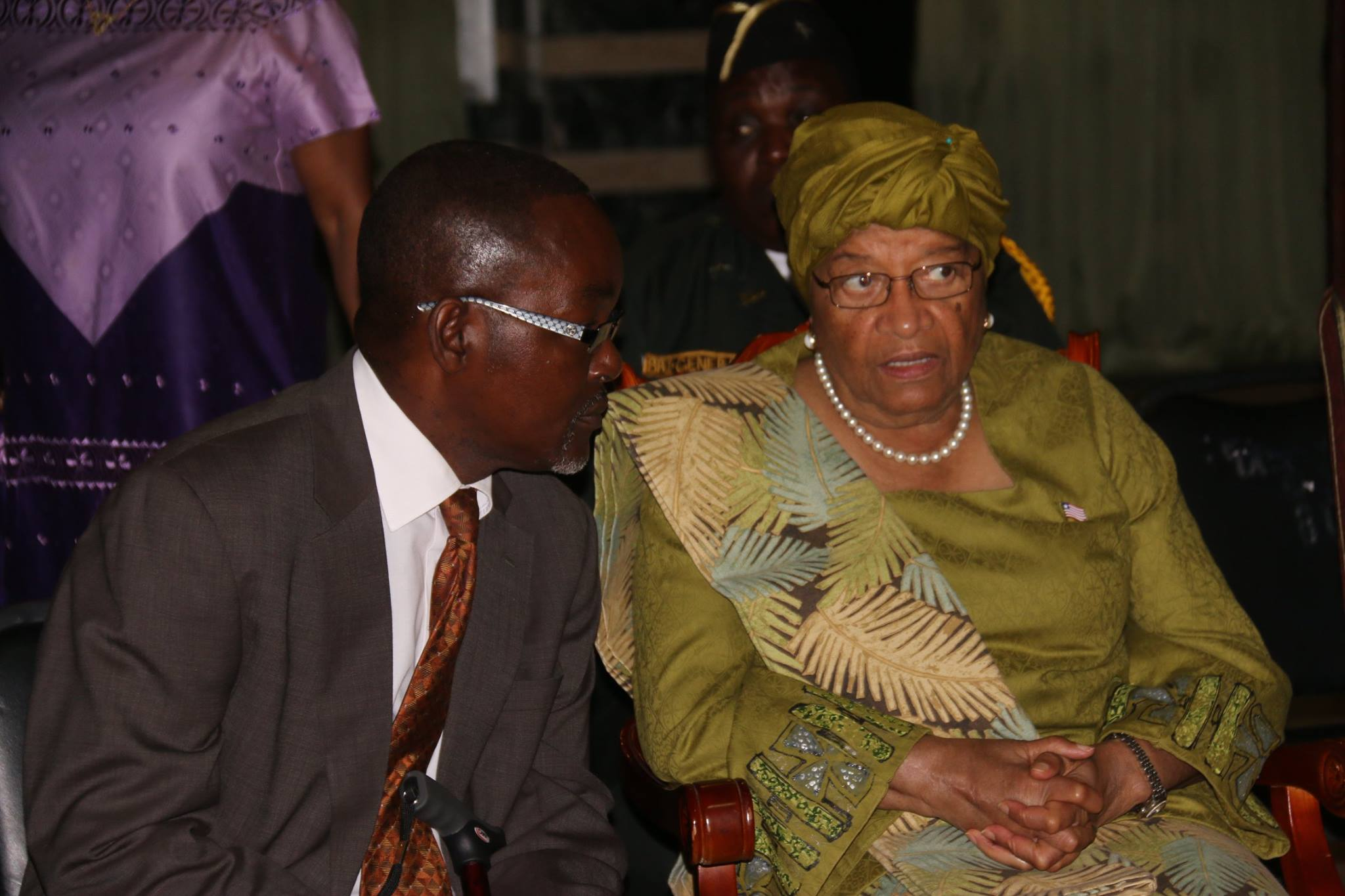 Majority House Leader, Hans Barchu in close consultation with President Sirleaf