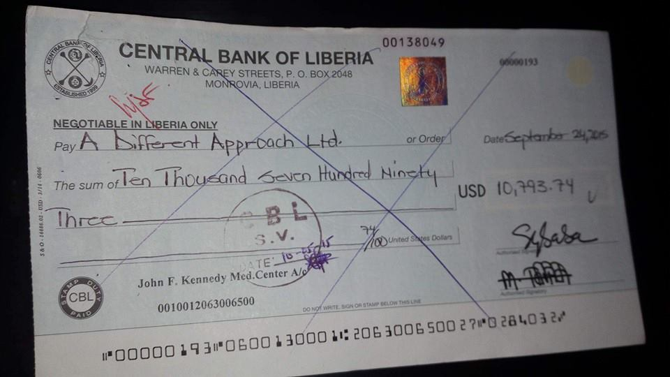 This is one of the Checks paid to vendor
