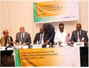 Members of the high table at the start of the two-day workshop in the Ivorian Capital, Abidjan