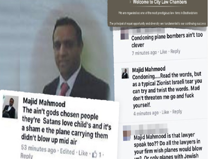 Lawyer who called for bombing of Jews on a plane ordered to pay £35,000 -