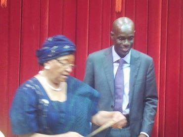 Minister Nagbe with President Sirleaf