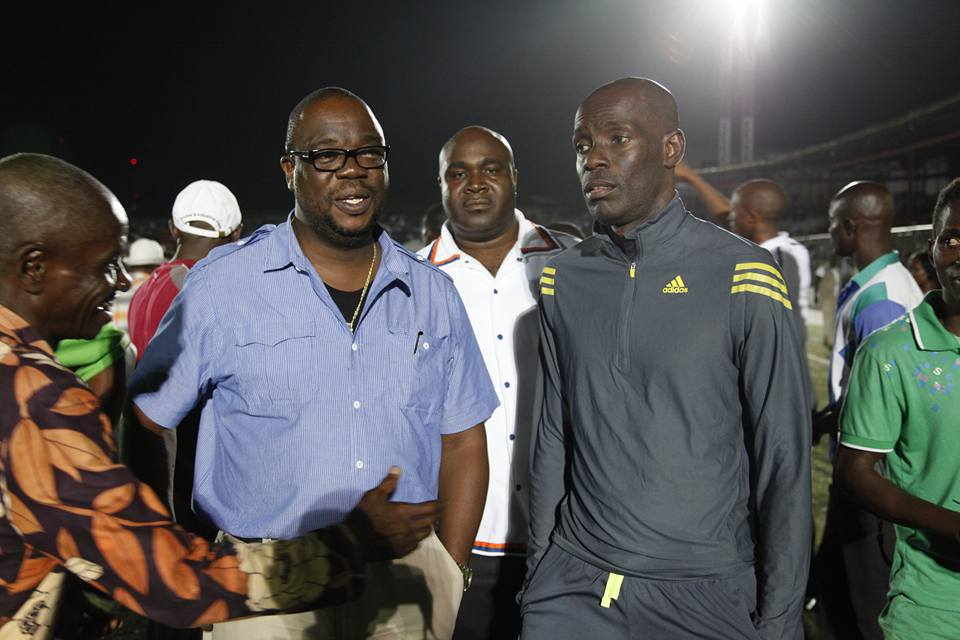 Minister Nagbe With Rep Snowe during one of the sporting programs